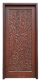 Plant Carved Door
