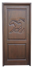 Horse Carved Door