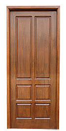 Solid Wood Door with 6 Blocks