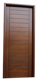 Solid Wooden Door with Horizontal Linings