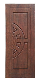 Solid Wood Door with Half Side Circle