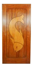 Carved Wooden Inlay Door